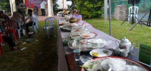 Sebahagian dari masakan yang dipertandingkan sebelum dihakimkan oleh para hakim.